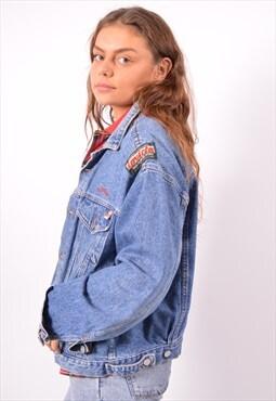 Vintage Invicta Denim Jacket Oversized Blue
