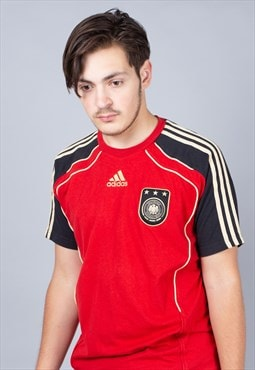 Germany 2008-09 Red Adidas Away Football Shirt