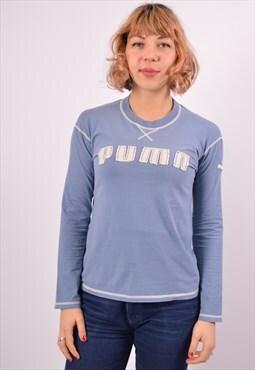 Vintage Puma Top Long Sleeve Blue