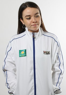 Vintage Fila White Full Zip Track Jacket
