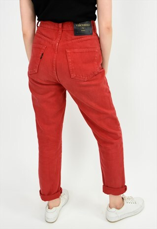 LUSH RED VALENTINO HIGH WAISTED JEANS