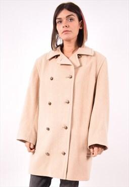 Aquascutum Womens Vintage Double Breasted Coat Medium 90s