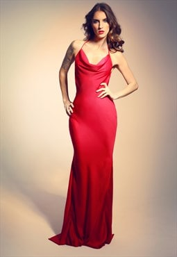 Open back evening dress