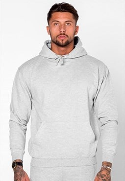 Essential Pullover Hoody - Heather Grey