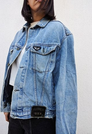 VINTAGE AVIREX OVERSIZED JEANS DENIM JACKET