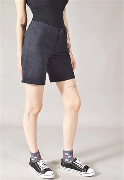 Vintage Dickies Slim Fit Shorts Navy Blue