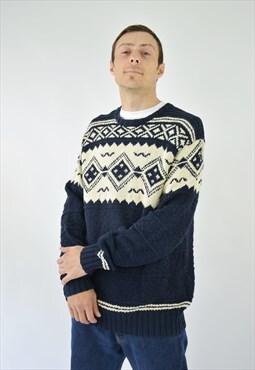 Vintage 90s Ralph Lauren Polo Sport Hand Knit Sweatshirt