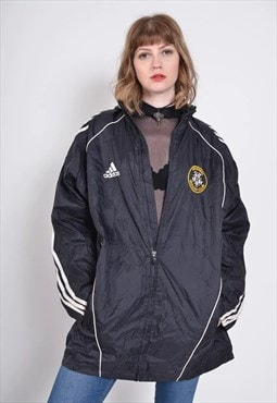 Vintage Adidas Windbreaker Jacket Black