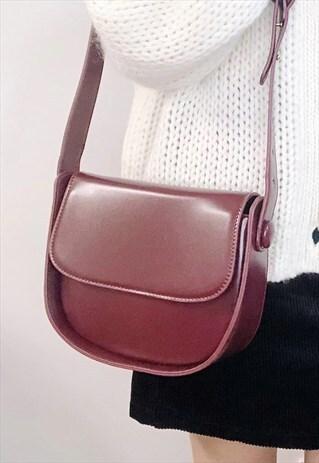 CLASSIC BOX BAG SHOULDER BAG - BURGUNDY RED