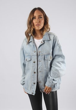 Vintage Denim Jacket Oversized Fitted UK 14 - 16  (91C)