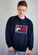 Vintage Fila sweatshirt embroidered spellout