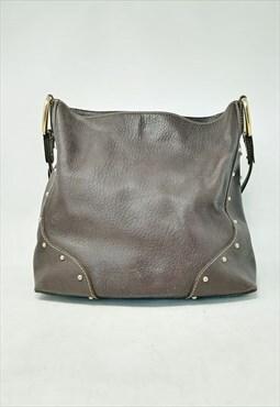 DOLCE&GABBANA brown leather handbag