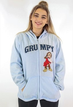 Vintage Disney Grumpy Fleece in Blue S/M
