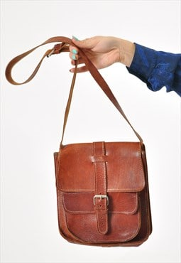 Vintage real leather shoulder bag