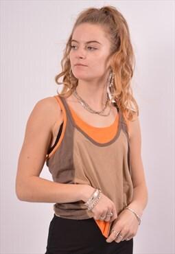 Vintage Nike Vest Top Brown