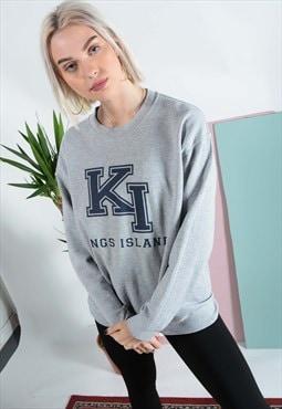Vintage Kings Island sweatshirt in grey.