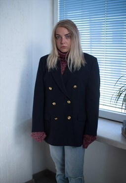Vintage 90's Navy Blue Double Breasted Jacket