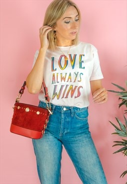Love Always Wins Rainbow T-shirt in White