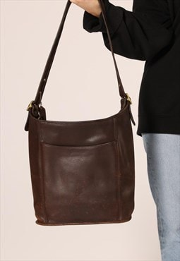 Beautiful Lambskin Leather Vintage Chocolate brown Coach bag