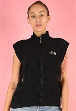 Vintage 90s The North Face Fleece Sleeveless Gilet Black