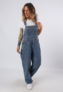 Denim Dungarees LONDON JEAN Wide Tapered Leg UK 12 (G55H)