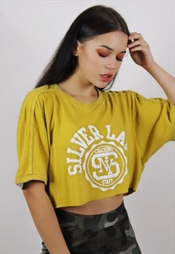 Vintage Mustard Champion Crop Top