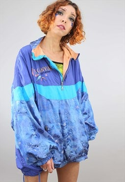 Vintage Oversized Pull Over 1/4 Zip Windbreaker Jacket