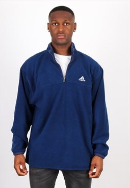 Vintage Adidas 1/4 Zip Sweatshirt in Blue