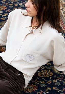 Silk button down shirt