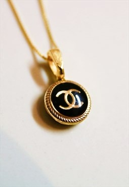 CC Classic Black Necklace 18 Karat Gold plated