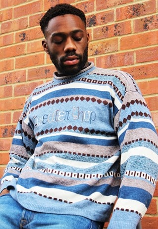 Vintage 90's 'The Sweater Shop' Patterned Christmas Jumper