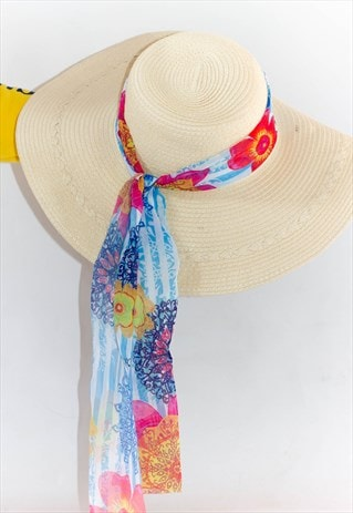 WOMEN'S STRAW WIDE BRIM SUN HAT