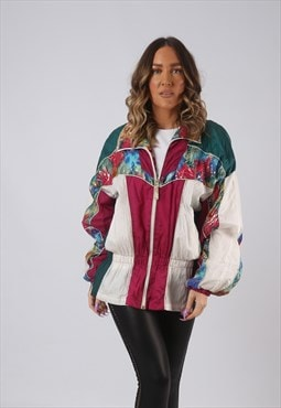 Shell Bomber Jacket Patterned Oversized Print UK 14 (K3P)