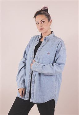 Vintage 90's Tommy Hilfiger Oversized Denim Shirt /A11008