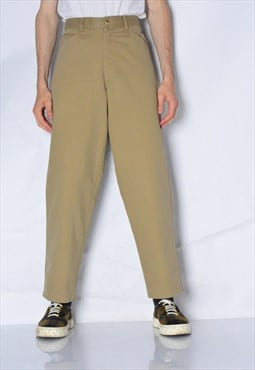 Vintage 90s Camel Brown Minimalist Chinos Pants