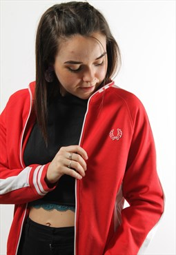 Vintage Fred Perry Full Zip Red Track Jacket
