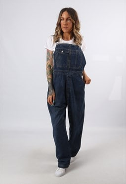 Denim Dungarees Wide Tapered Leg TALL LENGTH UK 18 (A8AC)
