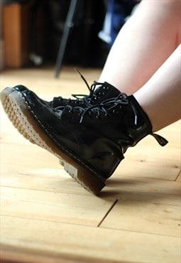 Dr Martens Black Patent 1460 8 Eye Boots