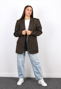Vintage Burberry Blazer Jacket in Brown