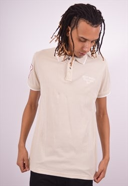 Vintage Helly Hansen Polo Shirt Beige