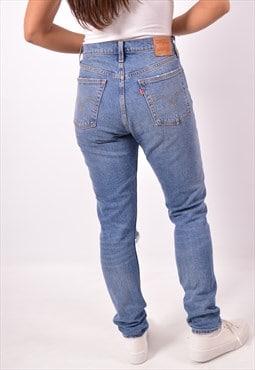 Vintage Levi's 501 Hight Waist Jeans Slim Blue