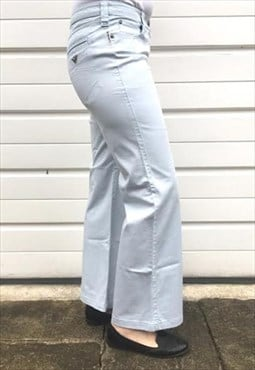Womens Armani trousers light blue bootcut cotton bottoms