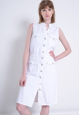 Vintage Ralph Lauren Denim Dress White
