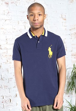 Vintage Polo Ralph Lauren Logo Polo Shirt Blue
