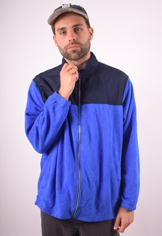 STARTER MENS VINTAGE FLEECE JACKET XXL BLUE 90S