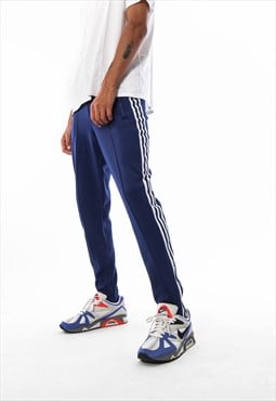 Vintage ADIDAS ORIGINALS Tracksuit Popper Pants 90s Blue
