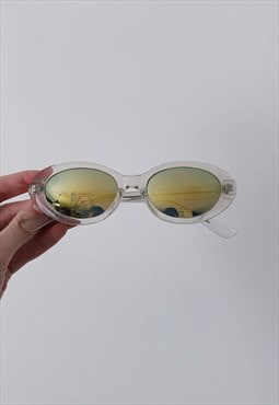 Retro 90s Vintage Deadstock Shiny Shades Frame Sunglasses
