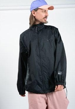 Vintage Nike 90s Windbreaker Shell Jacket in Black
