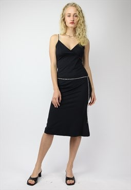 Y2K Rave Miss Sixty Sleep Dress in Black