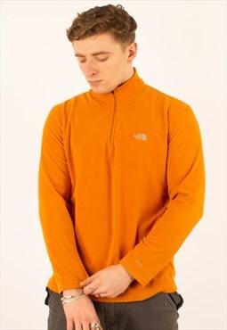 Vintage Orange North Face Quarter Zip Fleece